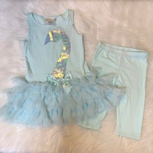 NWT Biscotti Toddler Girls Tunic Capri Legging Set